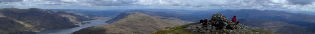 Panaroma picture taken from 'Creag Mhaim' on the West Coast of Scotland